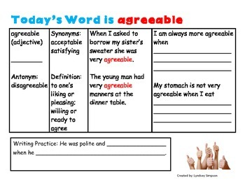 Third Grade Tier 2 Vocabulary Work