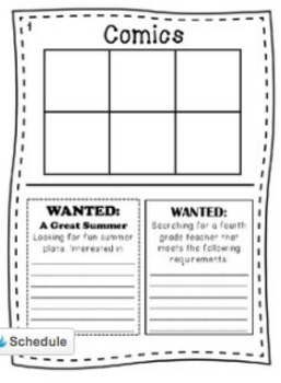 "End of Year Writing Activity - ""Third Grade Times"""