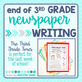 End of Year Writing Activity - 3rd Grade - (Print and Digital)