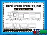 Third Grade Train Art Project, 3rd Grade Cut and Color - Cooperative Art