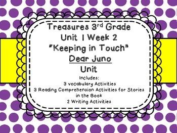 Third Grade Treasures Dear Juno Unit 1 Week 2 Vocab Compre