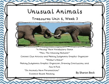 "Third Grade Treasures ""Unusual Animals"" Unit 6 Week 2"