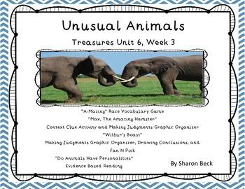"Third Grade Treasures ""Unusual Animals"" Unit 6 Week 2"