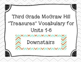 "Third Grade ""Treasures"" Vocabulary Cards Units 1-6- Teal a"