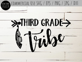 Third Grade Tribe Cutting File and Clip-Art - SVG, EPS, PN