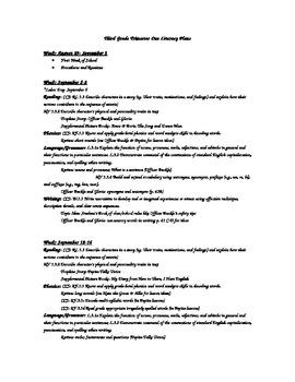 Third Grade Trimester One Literacy Long Range Plans (Common Core)