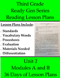 Third Grade - Unit 2 with 36 Modules A and B ReadyGEN Read