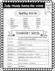 Third Grade, Unit 4, Journeys 2017 Vocabulary and Spelling