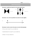 Third Grade Unit 8 Assessment: Fractions