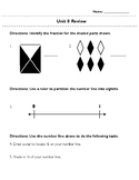 Third Grade Unit 8 Review: Fractions