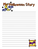 Third Grade - Upper Elementary My Halloween Story Writing Prompt