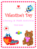 Valentine's Day Literacy and Math Activities - 3rd Grade