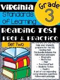 Third Grade Virginia SOL Reading Practice Test
