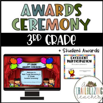 Editable Award Ceremony Program Template Worksheets Teaching Resources Tpt