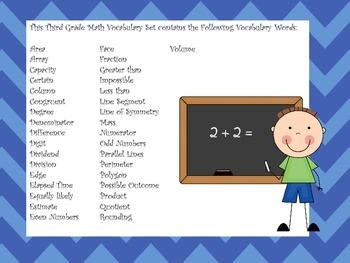 Third Grade Vocabulary