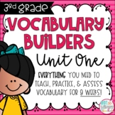 Third Grade Vocabulary Builders Unit 1