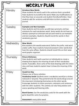 Third Grade Vocabulary Builders Unit 2