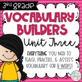 Third Grade Vocabulary Builders Unit 3