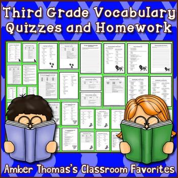 Third Grade Vocabulary Quiz Packet
