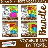 Third Grade Vocabulary Speech Bubble Bundle   3rd Grade TE