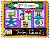 Third Grade Watch, Think, Color Games - VARIETY BUNDLE #1