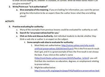 Third Grade Web Site Evaluation Unit Plan