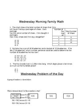 Third Grade Week 4 POD