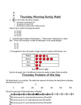 Third Grade Week 8 POD