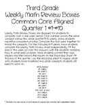 Third Grade Weekly Math Boxes, CCSS