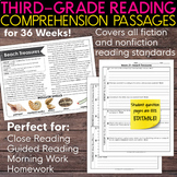 Third Grade Weekly Reading Comprehension [Nonfiction and Fiction]