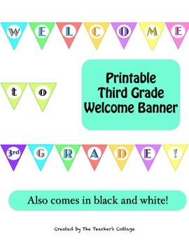 Third Grade Welcome Banner