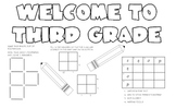 Third Grade Welcome Desk Mat