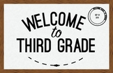 Third Grade Welcome Poster