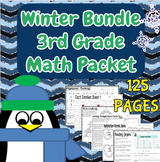Third Grade Winter Bundle of Math Review Printables