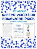 Third Grade Winter Vacation Homework Pack