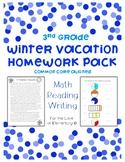Third Grade Winter Vacation Homework Pack