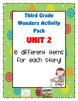 Third Grade Wonders Reading Unit 2: 6 Different Items for Each Story
