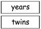 Third Grade Wonders Spelling Words - Unit 4