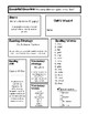 Third Grade Wonders UNIT 1 Spelling Lists/Weekly Overview