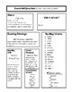 Third Grade Wonders UNIT 5 Spelling Lists/Weekly Overview