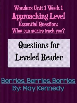 Third Grade Wonders Unit 1 Week 1 Approaching Leveled Read