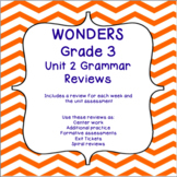 Third Grade Wonders Unit 2 Grammar Review