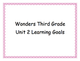 Third Grade Wonders Unit 2 Learning Goals