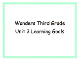 Third Grade Wonders Unit 3 Learning Goals