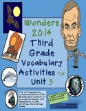 Wonders-Unit 3 Vocabulary Assessments and Centers for 3rd Grade