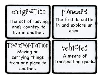 Third Grade Wonders Vocabulary Cards - Unit 3