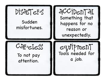 Third Grade Wonders Vocabulary Cards - Unit 5