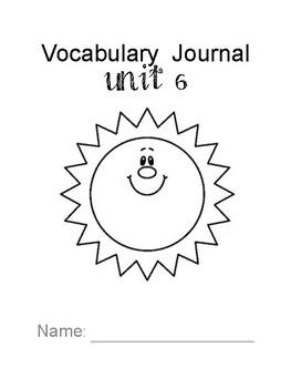 Third Grade Wonders Vocabulary Interactive Notebook: Unit Six