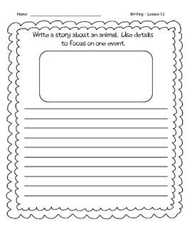 Third Grade Wonders Writing