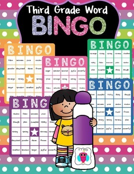 Third Grade Word Bingo